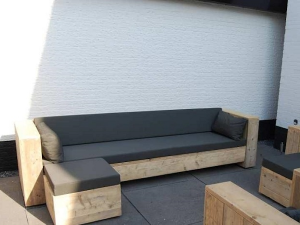 Steigerhout loungebank