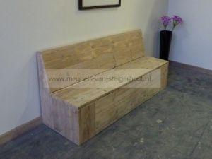 bankje van steigerhout met klep