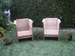 Steigerhouten loungestoel van steigerhout