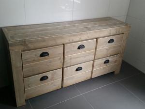 dressoir steigerhout met lades