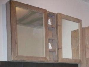 Badkamermeubel Spiegelkast van steigerhout