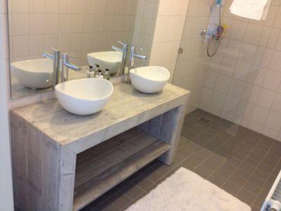 badkamermeubel steigerhout verstek