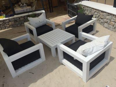 Beach meubels van steigerhout