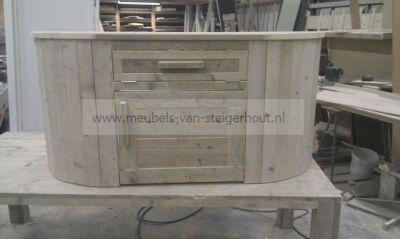 ronde dressoir van steigerhout