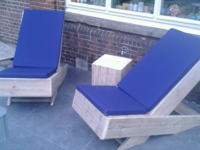 loungestoel van steigerhout