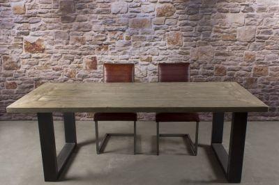 Steigerhouten tafel u poot