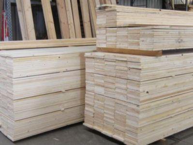 Losse planken nieuw glad steigerhout