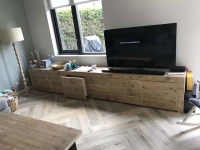 steigerhouten tv meubel hattem