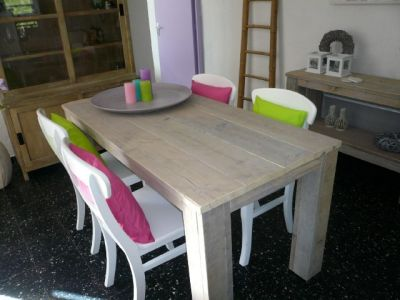 Tafel van gebruikt steigerhout