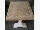 Salontafel met mozaiekblad van gebruikt steigerhout met lak afwerking