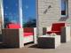 Steigerhouten loungestoel